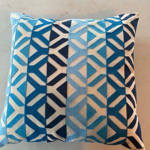 Blue print pillow cover